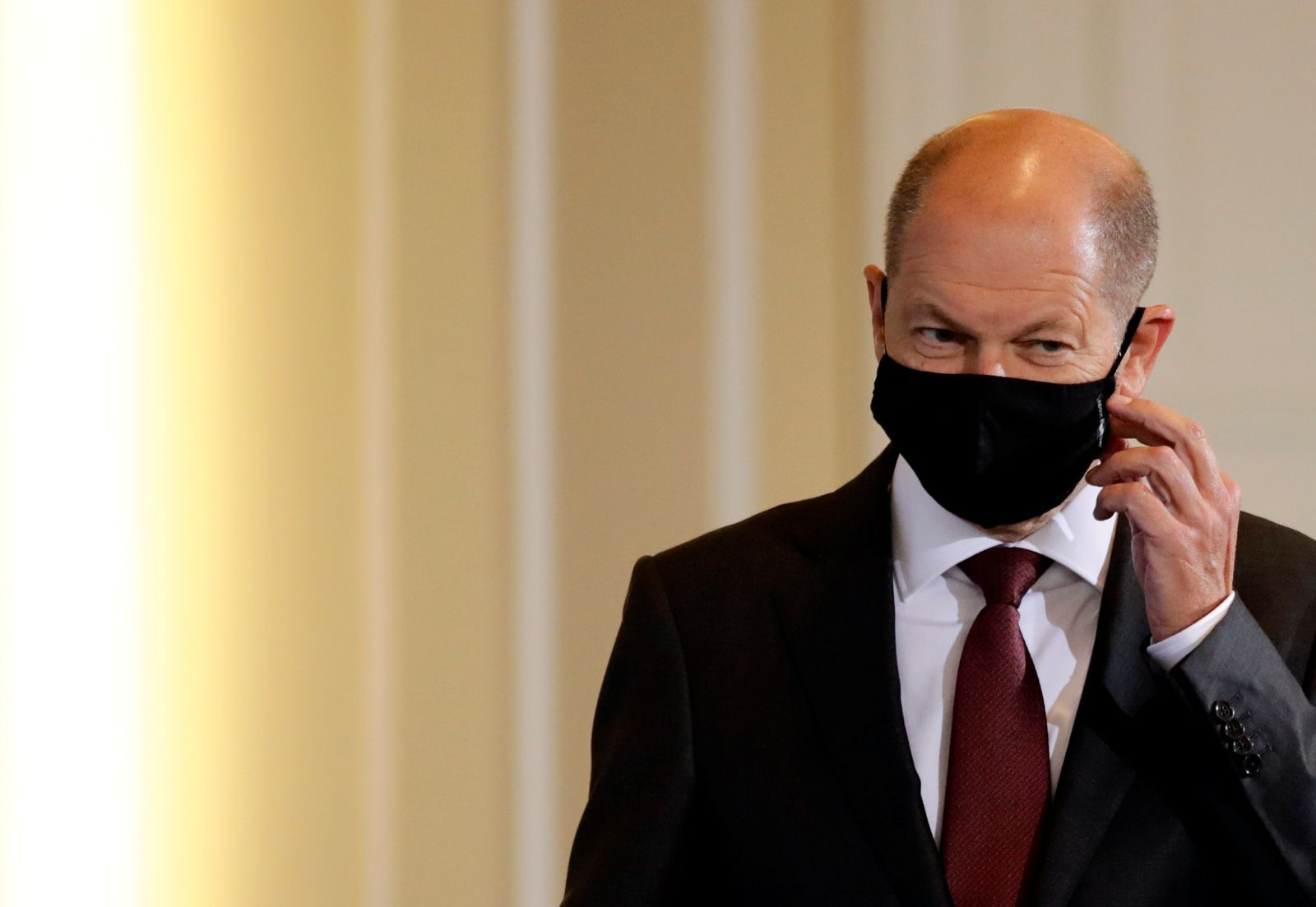 German Finance Minister Scholz and Justice Minister Lambrecht hold news conference in Berlin