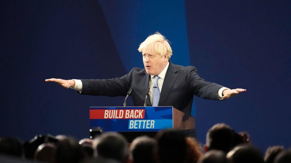 Hat, nach seinen eigenen Worten, »Mumm«: Boris Johnson während seiner Parteitagsrede