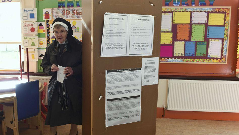 Schwester Anastasia und Irland haben gewählt: Das Endergebnis wird für Sonntag erwartet