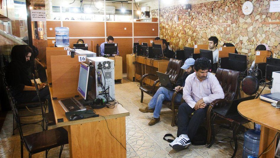 Internetcafé in Teheran (Archivbild): Gezielte Überwachung