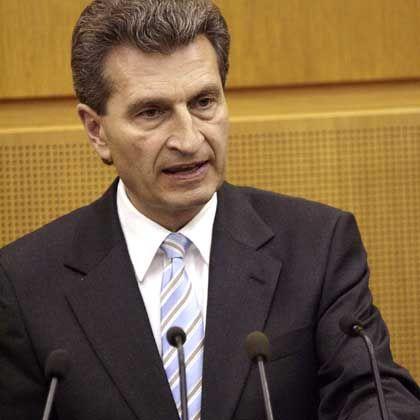 Oettinger vergangene Woche im Landtag: Nochmals für seine Rede auf Filbinger entschuldigt