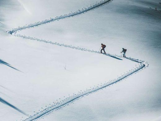 Skifahrers Traum: Aufstieg fern der Pisten