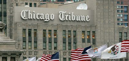 """Redaktionsgebäude der """"Chicago Tribune"""": """"Es ist der perfekte Sturm"""""""