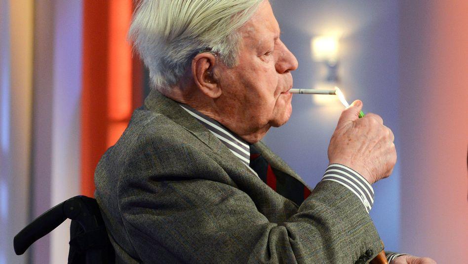 """Altbundeskanzler Schmidt (bei """"Beckmann""""): """"Nicht von sich aus schlau genug"""""""