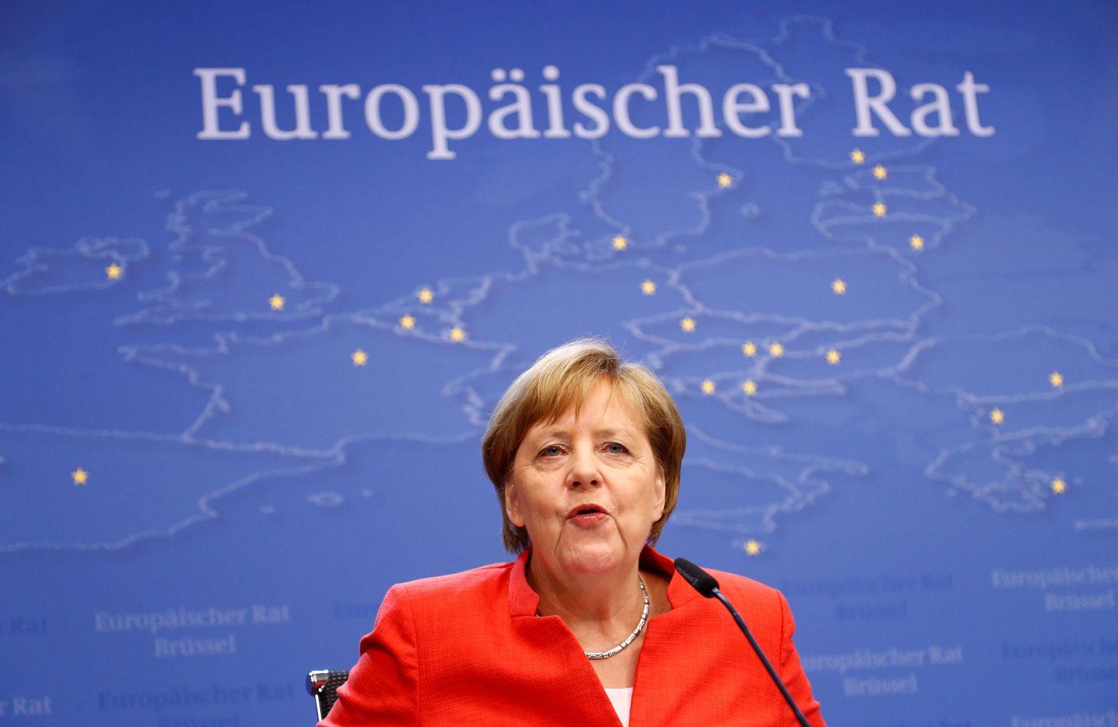 EINMALIGE VERWENDUNG Angela Merkel/ Europäischer Rat