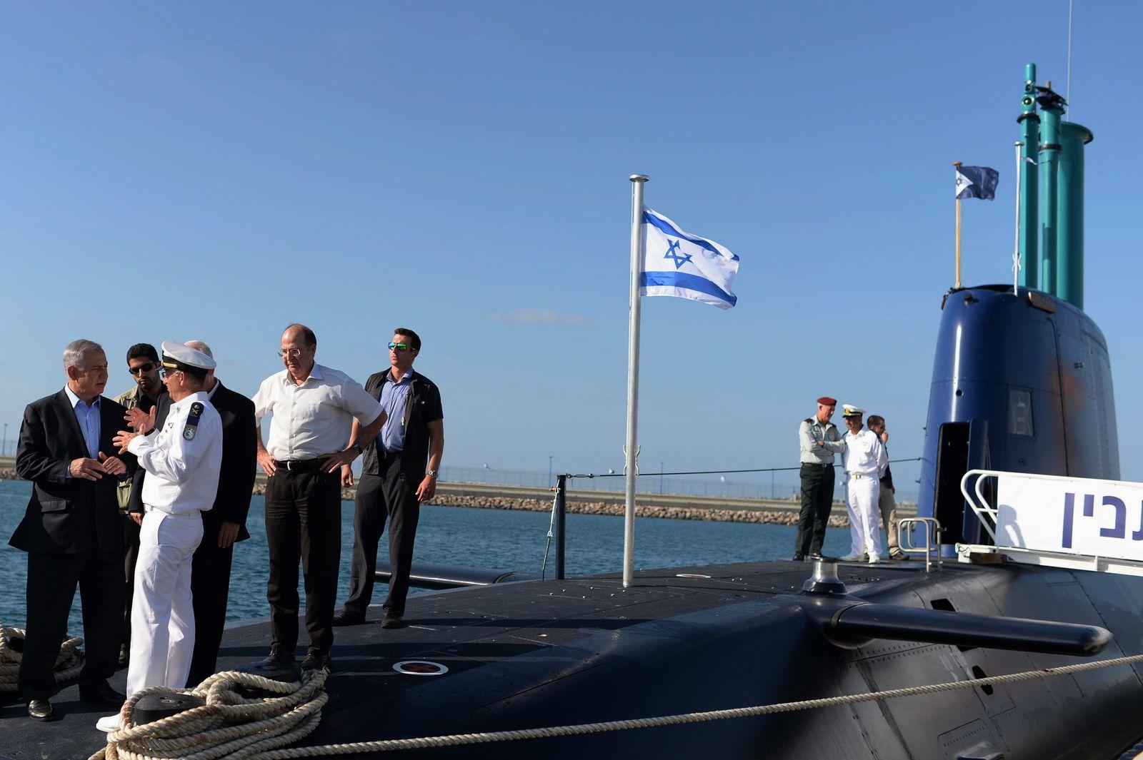 EINMALIGE VERWENDUNG Haifa / U-Boot / Netanyahu