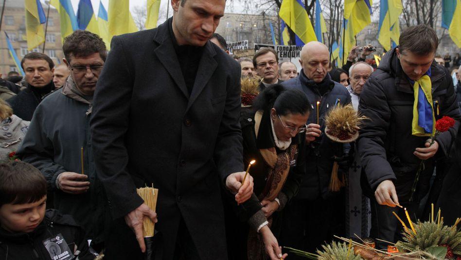 Protestein der Ukraine: Zehntausende demonstrieren für Europa