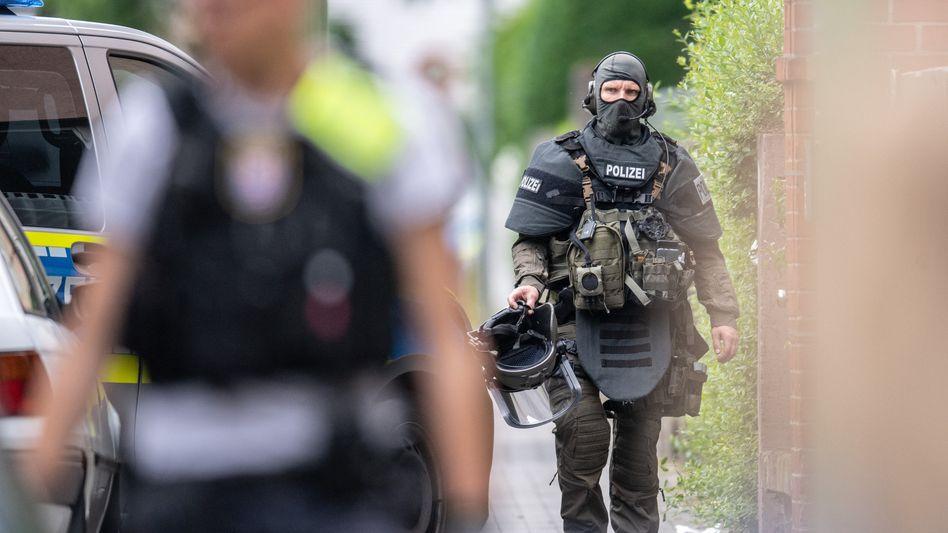 Bei dem Einsatz in Frankfurt waren auch SEK-Beamte beteiligt