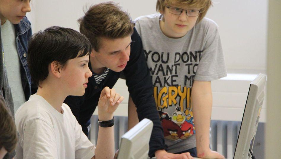 Schüler in Dresden: Vorbildlicher Informatikunterricht am Kreuzgymnasium