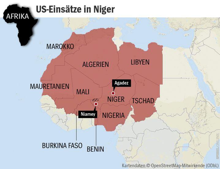 Bei Agadez, Niger, bauen die USA eine neue Drohnenbasis. An der Grenze zwischen Mali und NIger starben am 3. Oktober vier US-Soldaten bei einem Geheimeinsatz