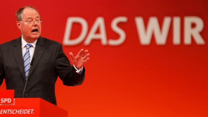 Steinbrück in Augsburg: Jubel auf dem Parteitag