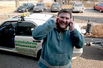 """Rene Günther und sein Biotaxi: """"Stinken tun andere"""""""