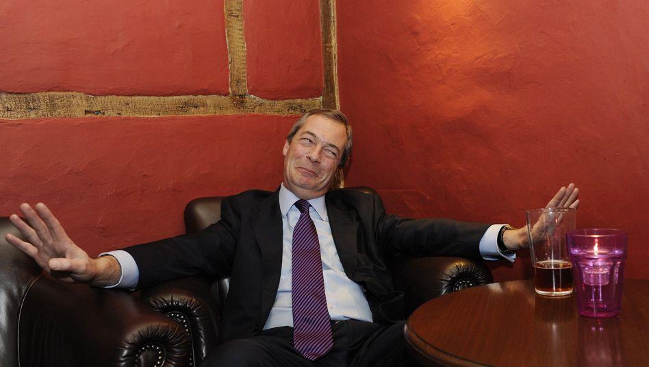 Britischer Politiker Farage (im Januar 2014): Volle Attacke gegen Merkel