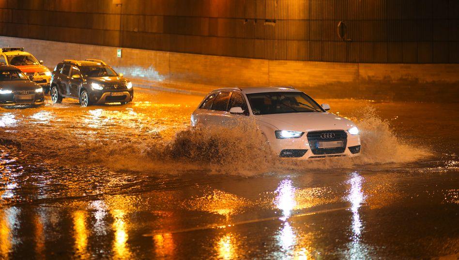 Überflutungen nach Starkregen in Wernigerode, Sachsen-Anhalt