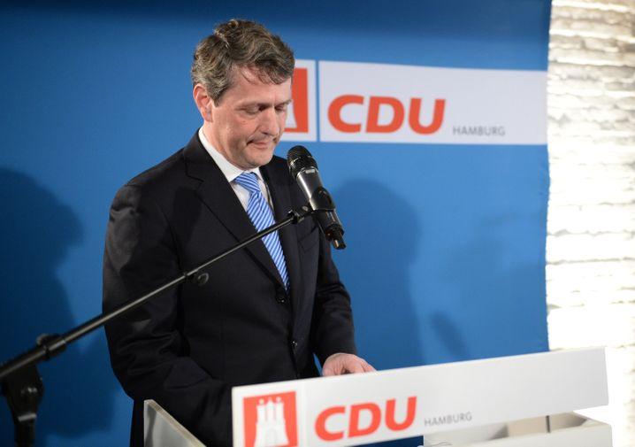 Niedergeschlagen: CDU-Mann Dietrich Wersich