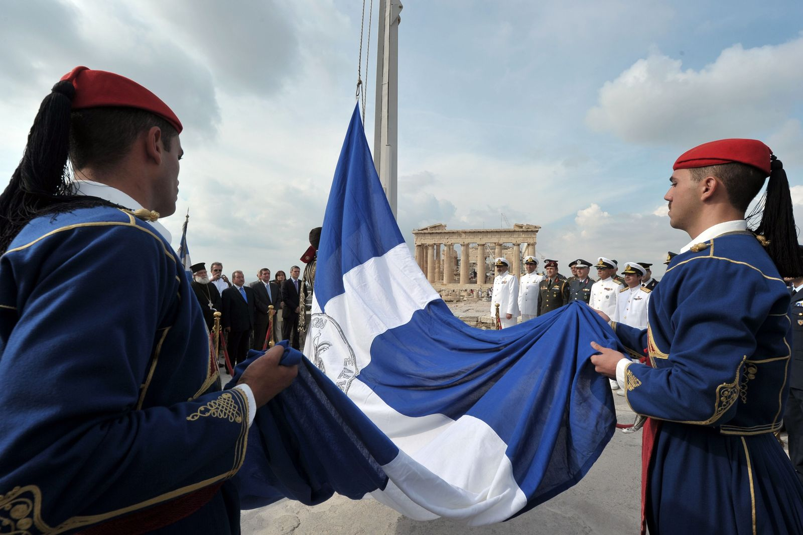 Griechenland / Zeremonie / Befreiung Nazi-Herrschaft