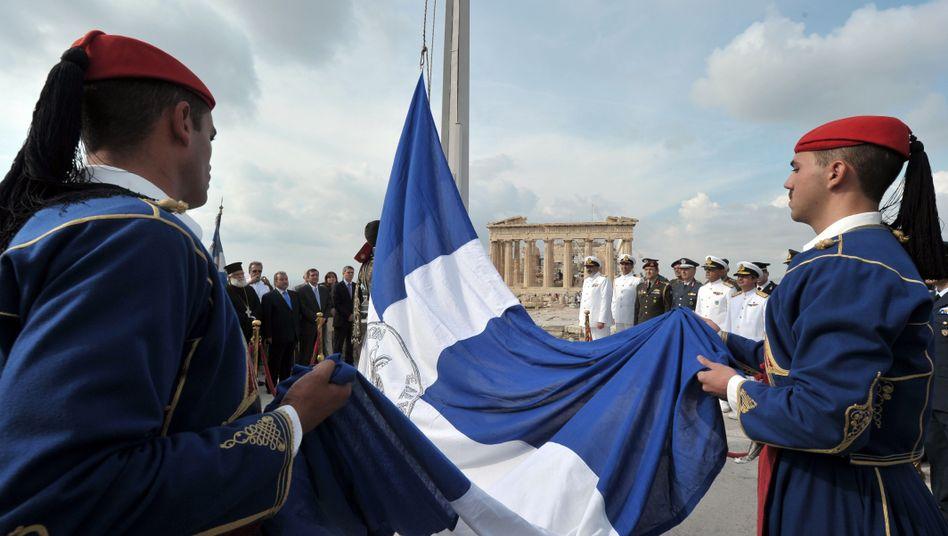 Militärzeremonie an der Akropolis (Archiv): Atempause für Griechenland?