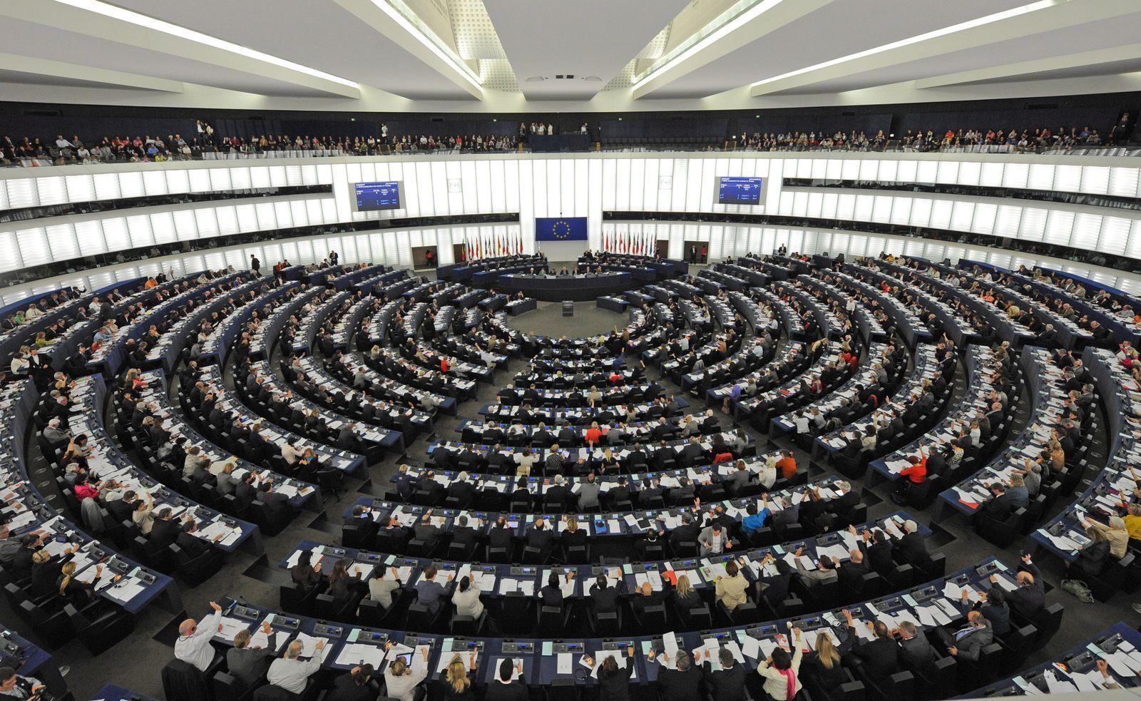 Europawahl - Europäisches Parlament in Straßburg