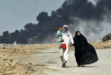 Flüchtlinge in Basra