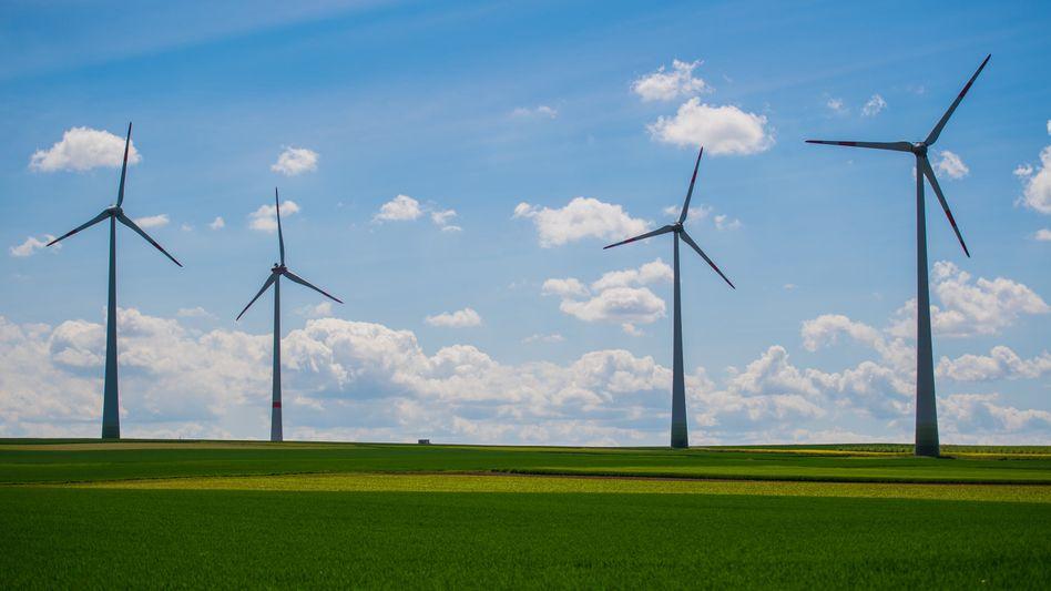 Windräder in Mainz
