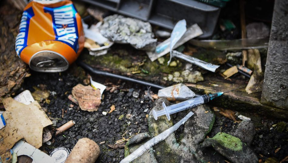 Drogen im Zentrum der schottischen Stadt Glasgow (Symbolbild)
