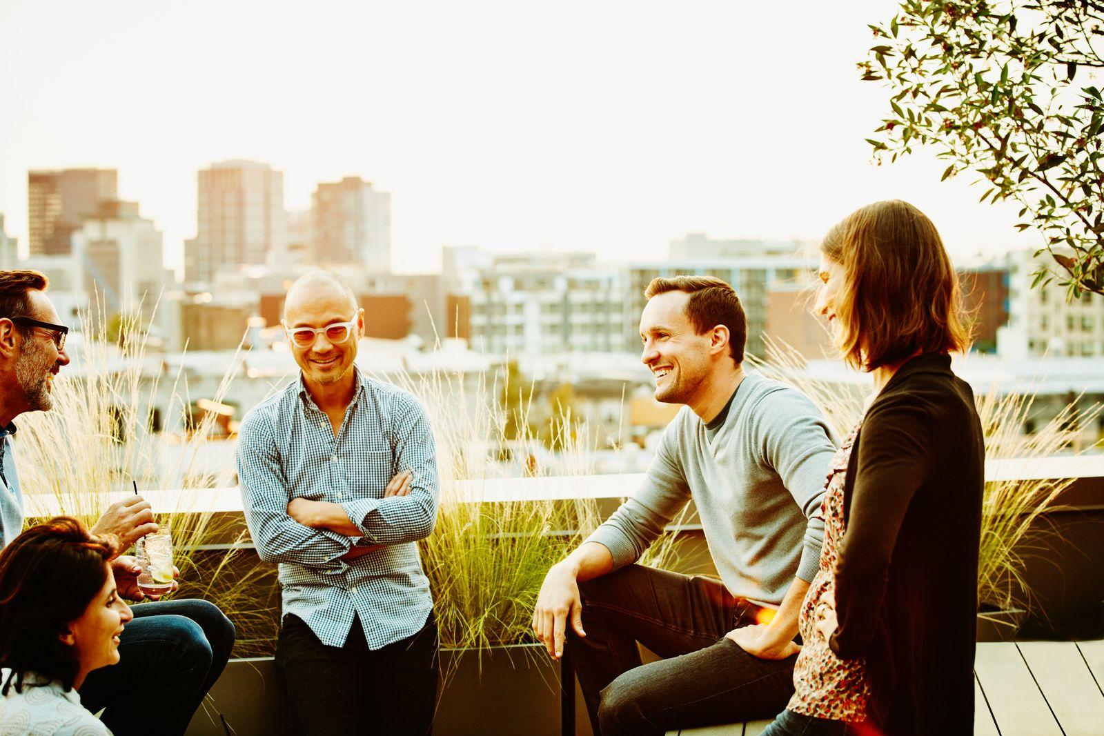 Karrierecoach / Einladung auf die Terrasse des Chefs
