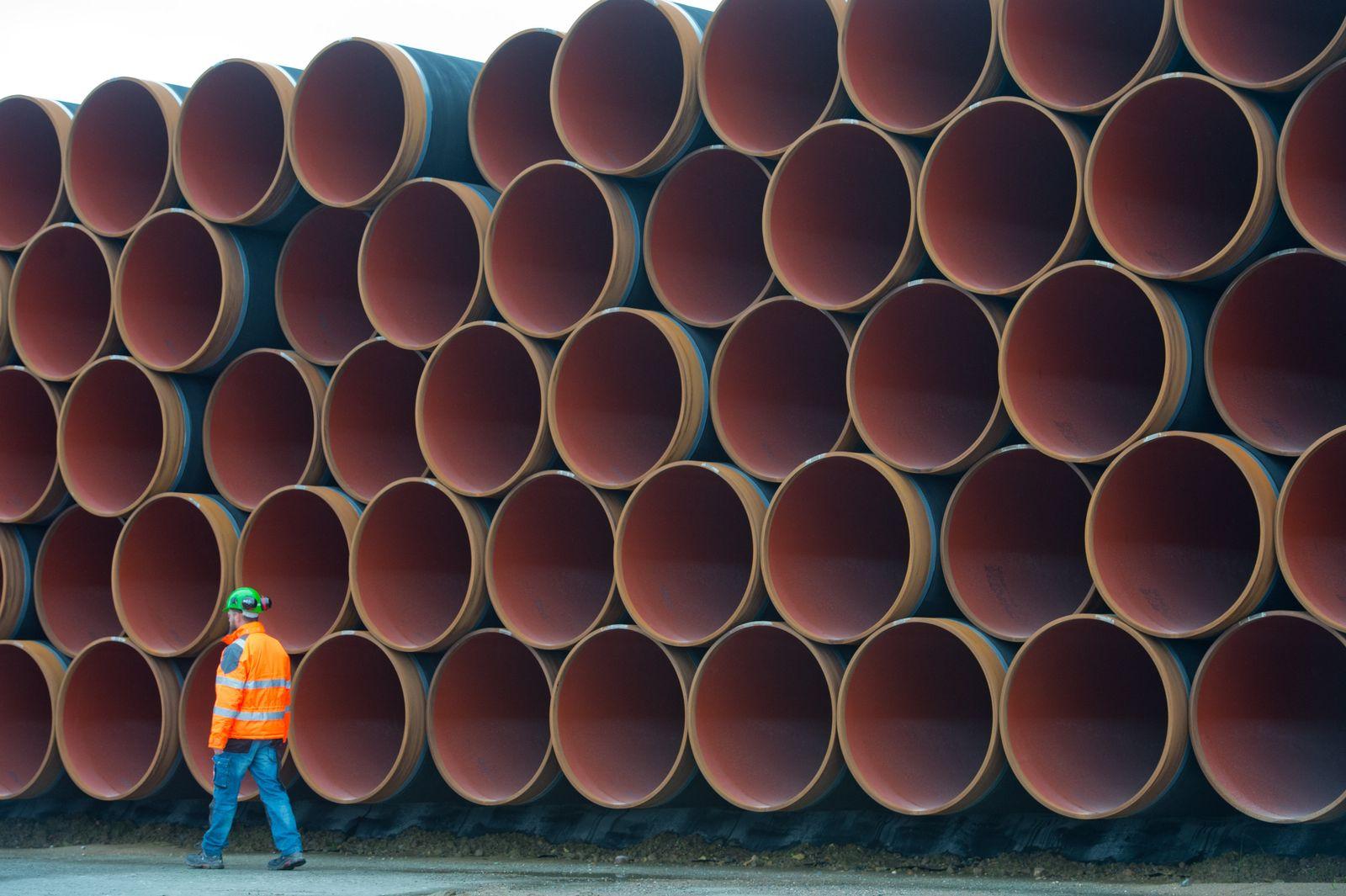 Pipeline-Rohre der Nord Stream 2