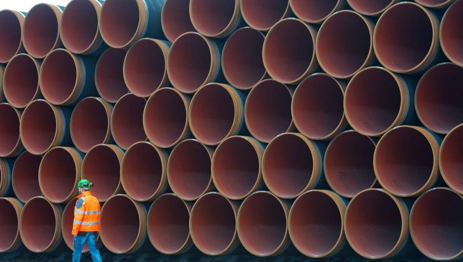Stahlrohre für die Ostsee-Gaspipeline Nord Stream 2