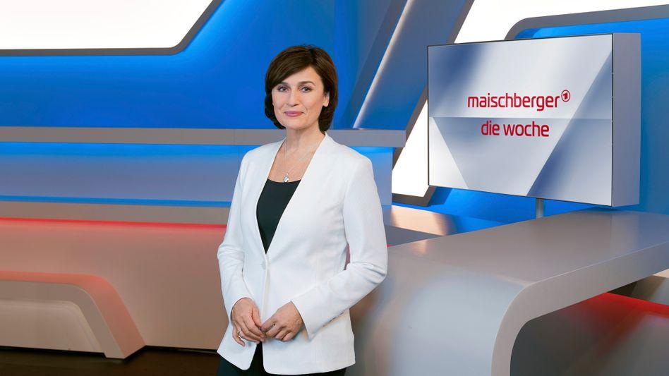 Moderatorin Maischberger (Archivbild): In ihrer Sendung ging es diesmal um die Krise in Thüringen, den Rückzug der CDU-Chefin und um die US-Vorwahlen