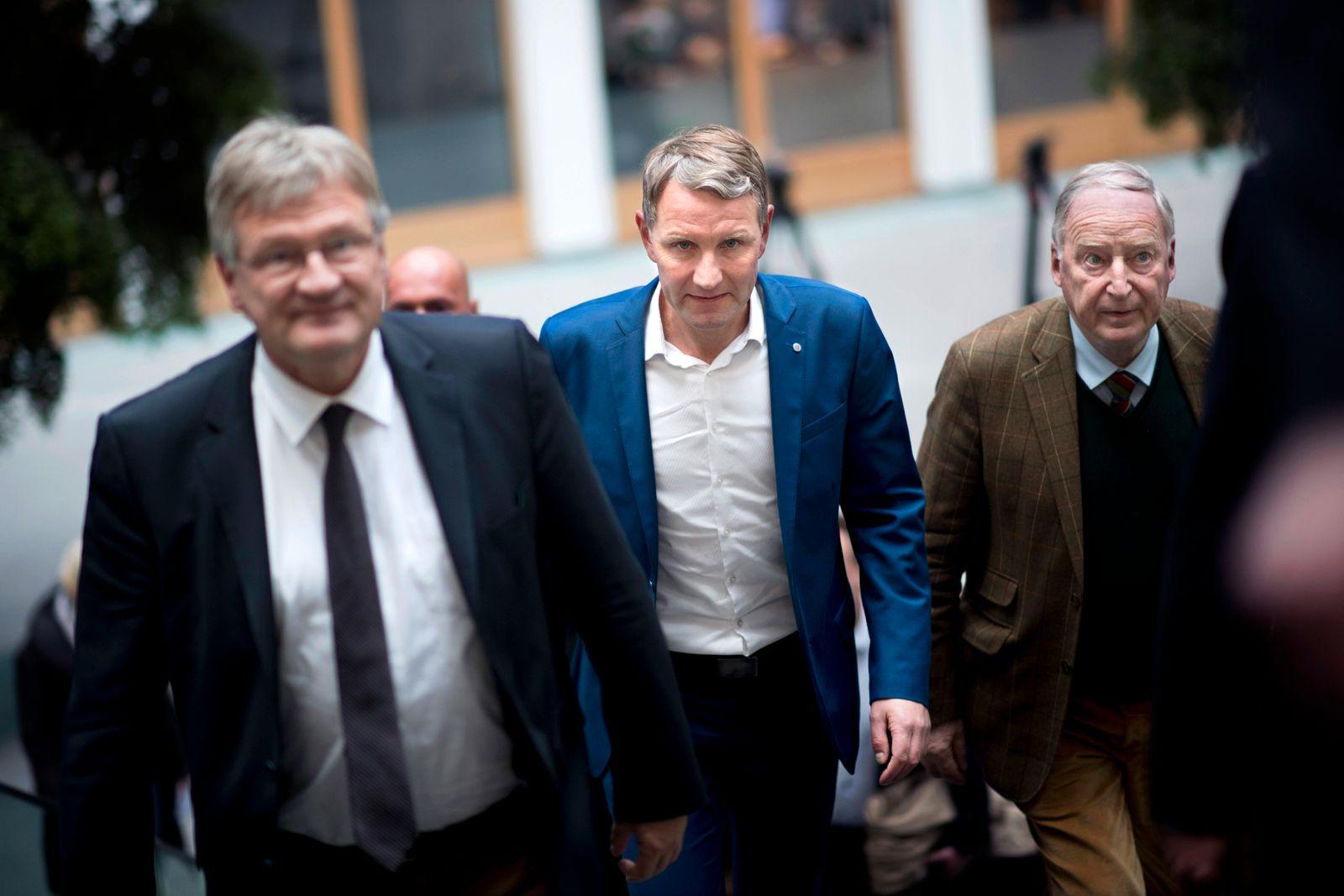 Meuthen, Gauland, Hoecke, AfD DEU, Deutschland, Germany, Berlin, 28.10.2019 Joerg Meuthen, Parteivorsitzender der AfD,