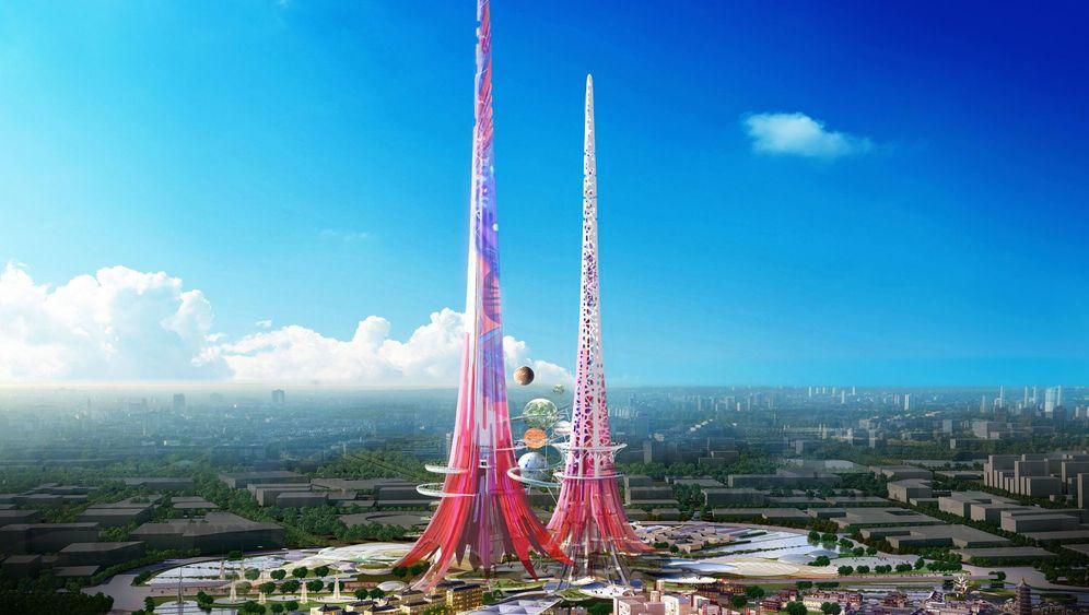 """""""Phoenix Towers"""" in China: Die Öko-Hochhäuser von Wuhan"""
