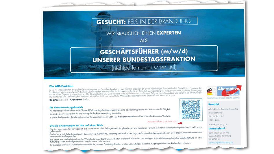 """Stellenausschreibung der AfD in der """"Frankfurter Allgemeinen Sonntagszeitung"""""""
