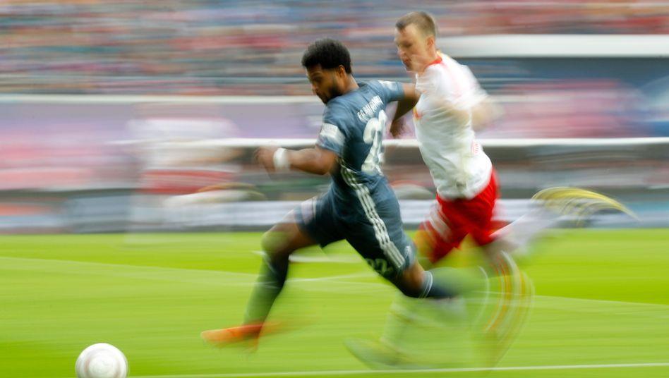 Bayerns Serge Gnabry (vorn) im Sprint