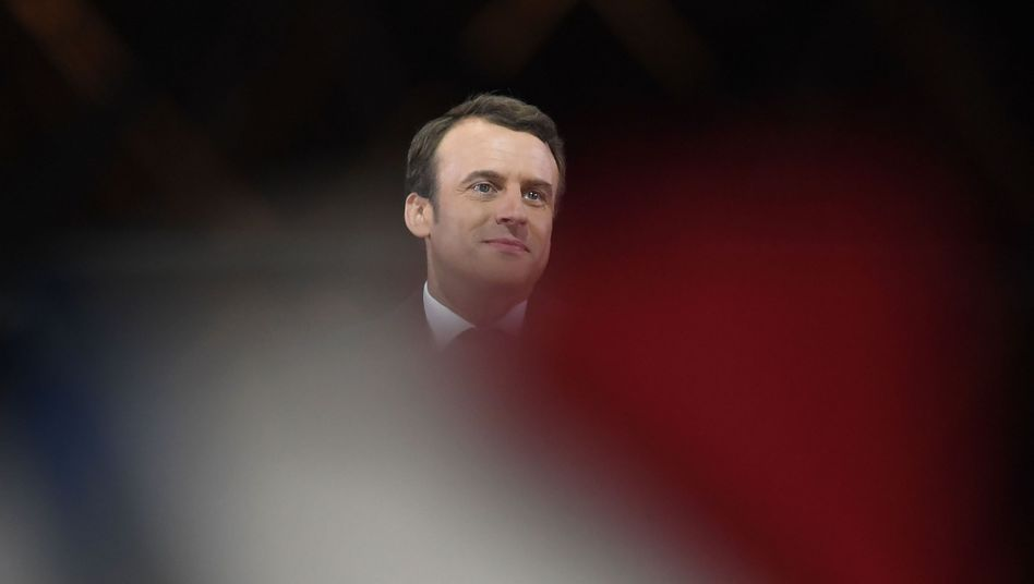 Emmanuel Macron nach seinem Wahlsieg