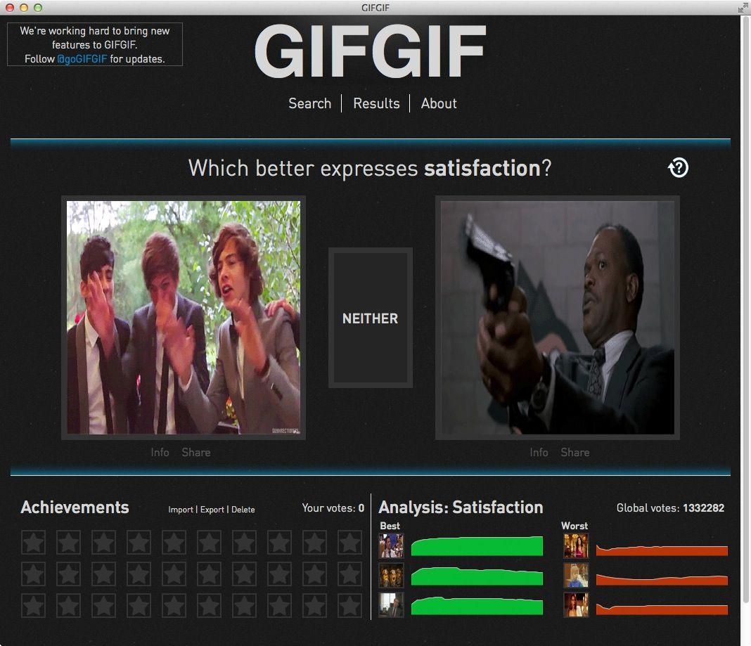 NUR ALS ZITAT Screenshot Gif-Experiment
