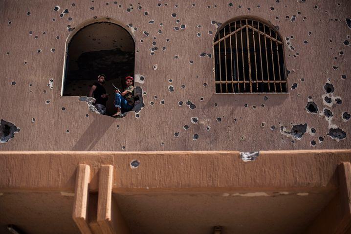 Kämpfer in Sirte