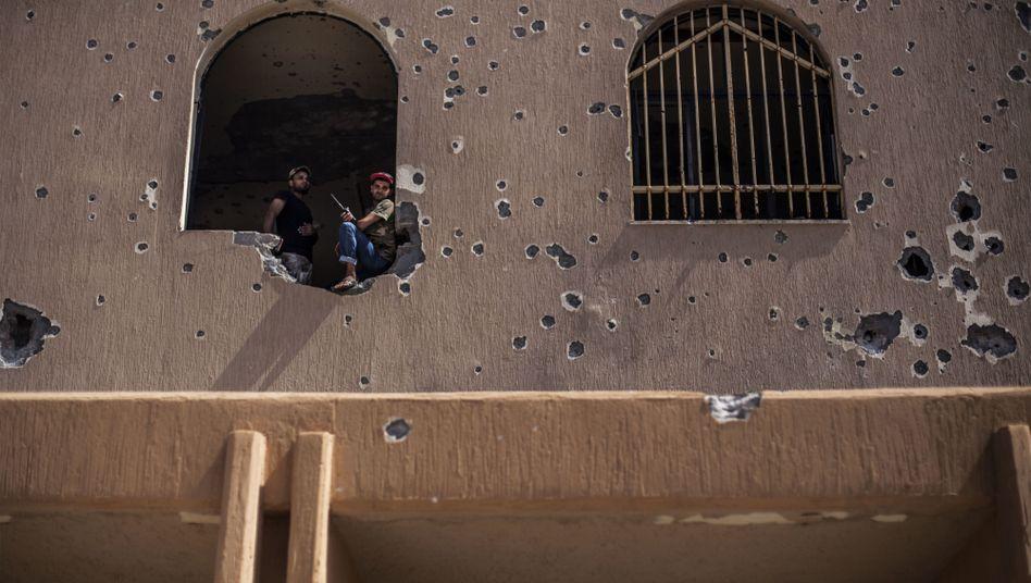 Haus mit Einschusslöchern in der libyschen Hauptstadt Tripolis (Archivbild)