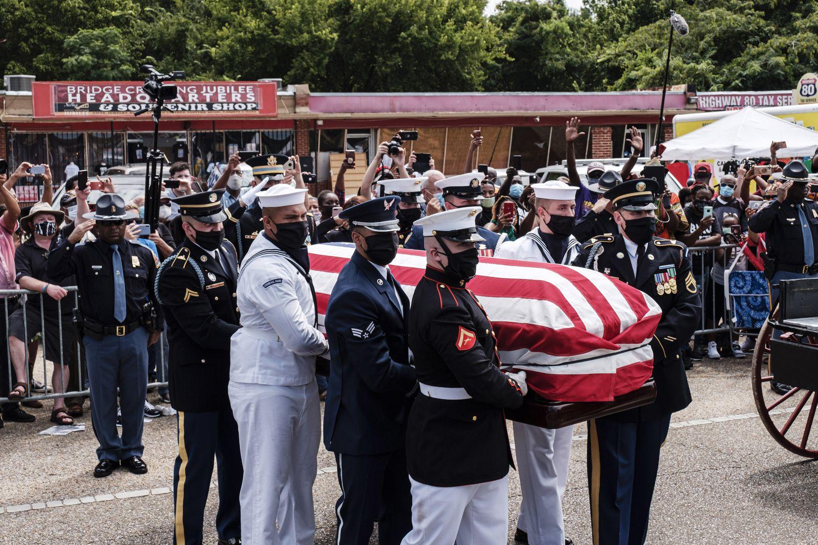 Civil Rights legend John Lewis Memorial, Selma, USA - 26 Jul 2020