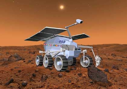 "Euro-Mobil: Der Esa-Rover ""ExoMars"" soll 2010 soll 2010 auf dem Mars rollen"