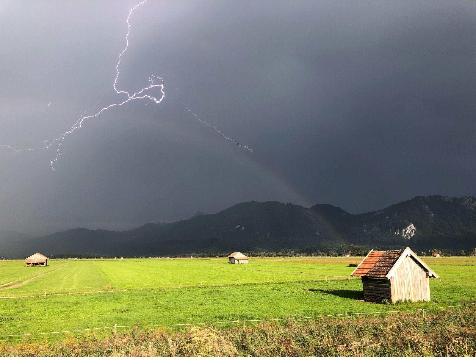 Bayern hat die meisten Blitze - meiste Gewittertage in Garmisch