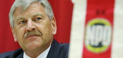 NPD-Chef Voigt: Staatsgelder nötig für das politische Überleben
