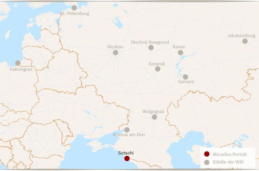 Karte Russland WM Städte Sotschi