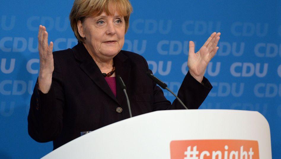 Angela Merkel (CDU) spricht über die Digitale Agenda (Archivbild): Wo bleibt eigentlich das Breitband?