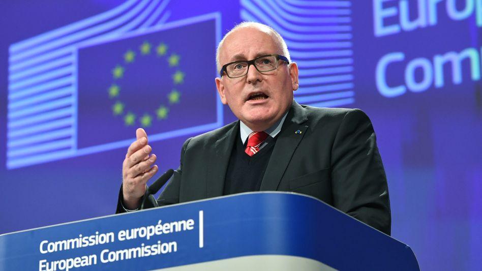 EU-Kommissionsvize Frans Timmermans