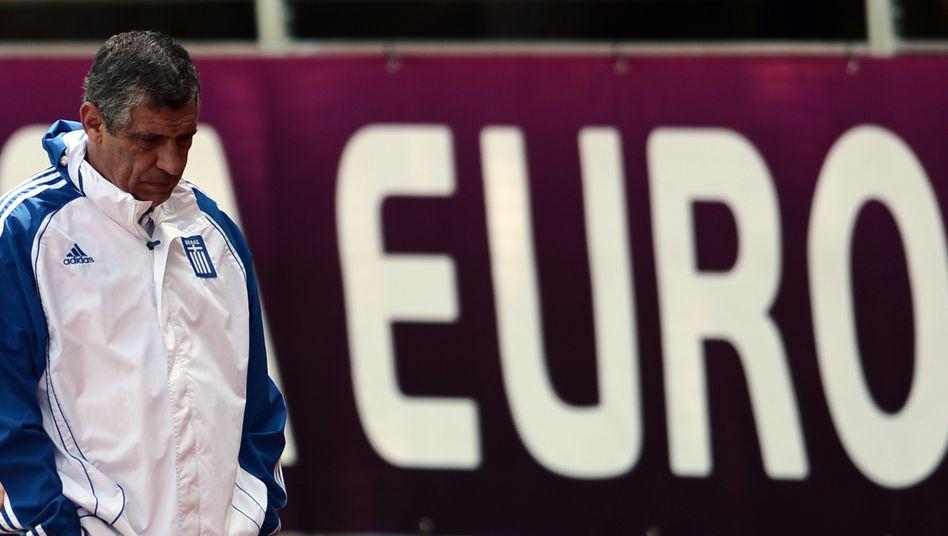 Griechischer Nationaltrainer Santos: Chance auf die kommende Runde nur gering