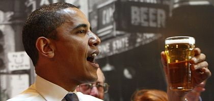 Prost, Barack! Germans are intoxicated by Barack Obama's political message.