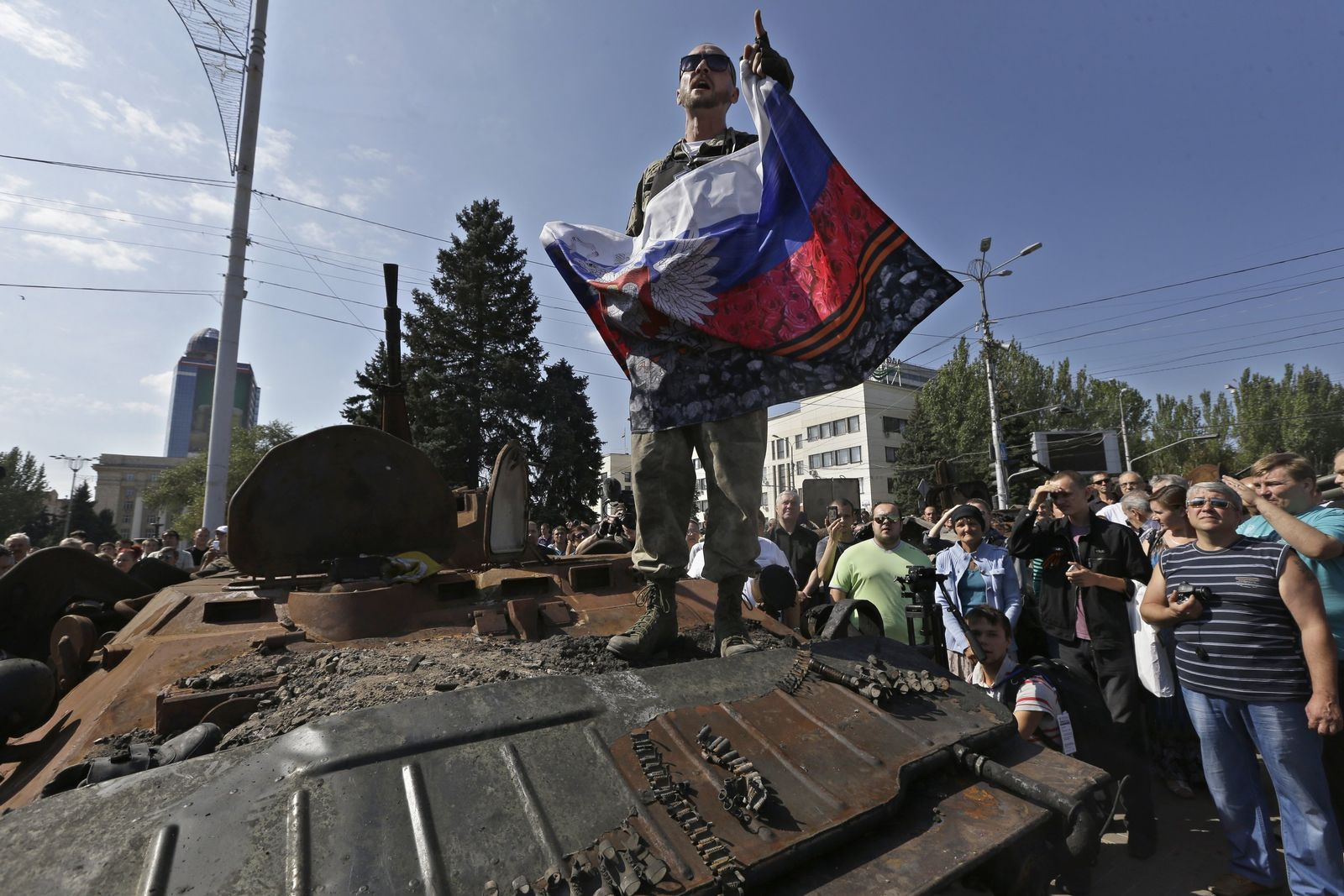 Ukraine/ Donezk/ Pro Russicher Rebelle