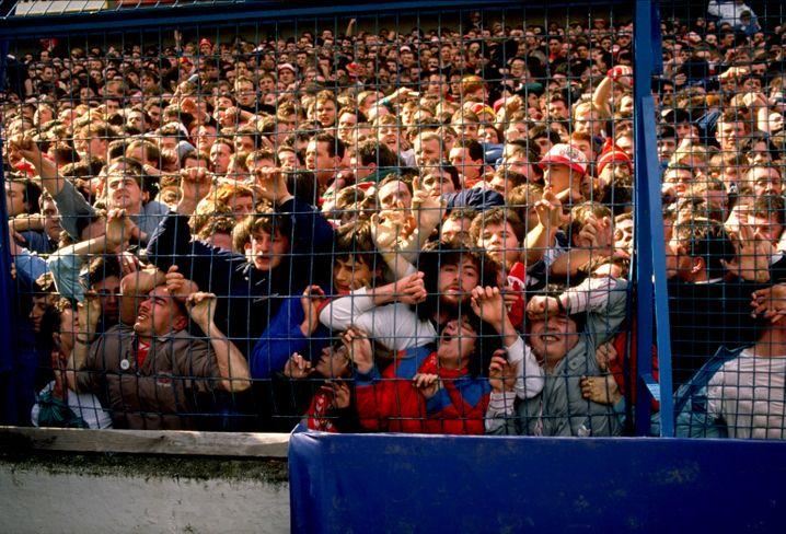 Zuschauer bei der Hillsborough-Katastrophe 1989: In der Falle