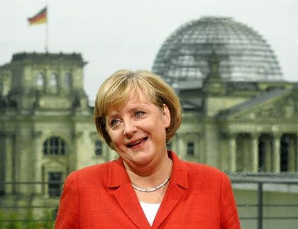 """German Chancellor Angela Merkel: """"I prefer to be closer to the people, even those who are protesting."""""""