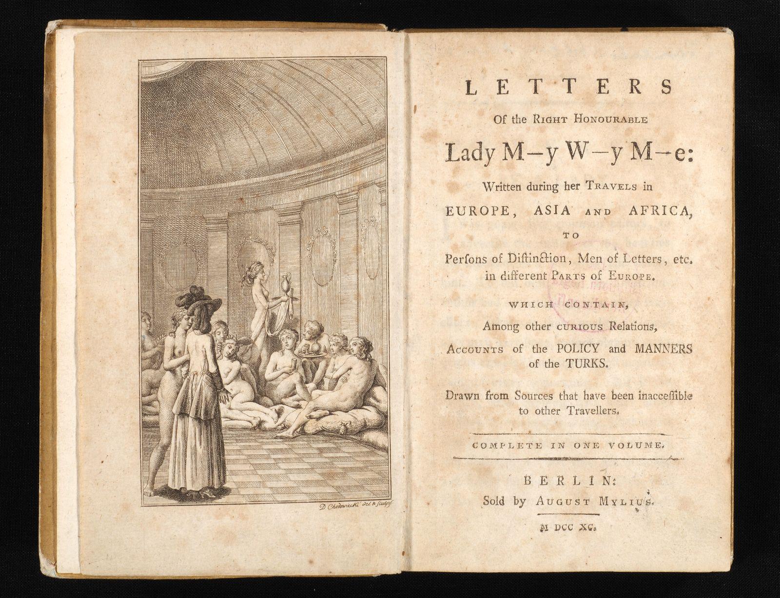 """Lady Montagu's Letters"" - Titelkupfer und Titelblatt"